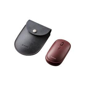 エレコム ELECOM ワイヤレスマウス 薄型 Bluetooth 無線 4ボタン BlueLED ポーチ付 Windows11対応 Slint Mサイズ レッド M-TM10BBRD [BlueLED /無線(ワイヤレス) /4ボタン /Bluetooth]【rb_mouse_cpn】
