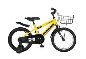 ハマー HUMMER 16型 子供用自転車 HUMMER KIDS16-OH(シングルシフト/イエロー) 63326-0799【組立商品につき返品不可】 【代金引換配送不可】