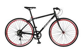 シボレー CHEVROLET 700×28C クロスバイク CORVETTE AL-CRB7006(ブラック/6段変速) 64113-0199【組立商品につき返品不可】 【代金引換配送不可】