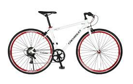 シボレー CHEVROLET 700×28C クロスバイク CORVETTE AL-CRB7006(ホワイト/6段変速) 64113-1299【組立商品につき返品不可】 【代金引換配送不可】