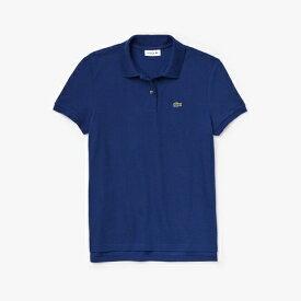 ラコステ LACOSTE レディース ポロシャツ コットン100% ピケ ポロシャツ(半袖)(36(Mサイズ)/コバルトブルー)PF7839M