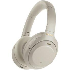 ソニー SONY ブルートゥースヘッドホン プラチナシルバー WH-1000XM4SM [リモコン・マイク対応 /Bluetooth /ハイレゾ対応 /ノイズキャンセリング対応][ワイヤレス ヘッドホン]