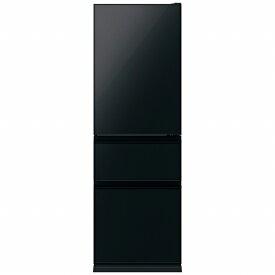 三菱 Mitsubishi Electric 《基本設置料金セット》MR-CG37TE-B 冷蔵庫 CGシリーズ クリスタルブラック [3ドア /右開きタイプ /365L][冷蔵庫 大型]