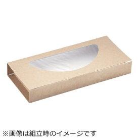 パックスタイル クラフトピザBOX窓付き ハーフ(25枚入) <XPZ3701>
