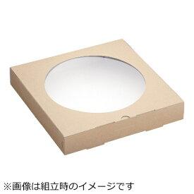 パックスタイル クラフトピザBOX窓付き 正角(25枚入) <XPZ3601>