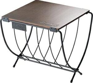 ロゴス LOGOS ワイド薪ラックウッドテーブル(約幅40×奥行37×高さ36cm) 81064183