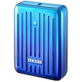 ZENDURE ゼンデュア ZENDURE SUPER Mini モバイルバッテリー ブルー ZDSM10PD-OB [10000mAh /USB Power Delivery対応 /2ポート /充電タイプ]