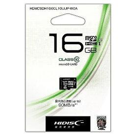 磁気研究所 Magnetic Laboratories microSDHCカード HIDISC HDMCSDH16GCL10UIJP-WOA [16GB /Class10]