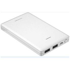 多摩電子工業 Tama Electric モバイルバッテリー 薄型 ホワイト TL96SAW [6800mAh /2ポート /充電タイプ]