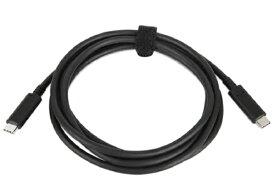 レノボジャパン Lenovo USB-C ⇔ USB-Cケーブル [映像 /充電 /転送 /2m] ブラック 4X90Q59480