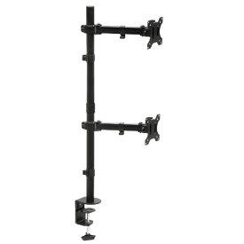 ARCHISS アーキス モニタースタンド [2画面 /〜27インチ] 水平 ロングポール式 クランプ/グロメット両対応 Monitor Arm Basic ブラック AS-MABH03