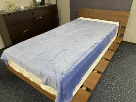 大宗 【毛布】ソフトタッチなめらか毛布 エマ シングルサイズ(140x190cm/ブルー) ブルー