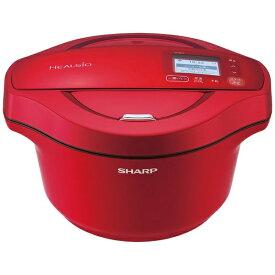 シャープ SHARP 水なし自動調理鍋 HEALSIO(ヘルシオ)ホットクック レッド KN-HW24FR