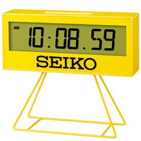 セイコー SEIKO 目覚まし時計 【ミニスポーツタイマー】 黄色 SQ817Y [デジタル]