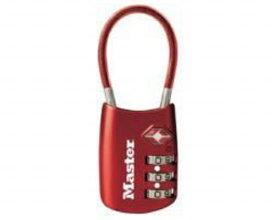 マスターロック Master Lock 4688JADRED 可変式TSAロック ワイヤータイプ レッド 00850115-001