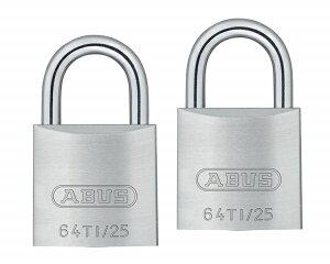 日本ロックサービス nihon lock service ABUS TITALIUM南京錠同一キー 25mm 6本キー 00721294-001