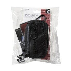 エレコム ELECOM GRAPH GEAR/コンパクトデジタルカメラケース/2気室/Lサイズ/ブラック DGB-CPW01LBK