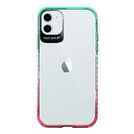 サムライワークス SAMURAI WORKS iPhone 11 Ultra Protect Case グラデーション(ライトブルー・コーラル) Hash feat.#F HF-CTIXIR-4G01