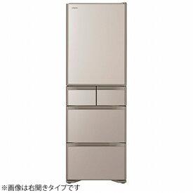 日立 HITACHI 冷蔵庫 Sタイプ クリスタルシャンパン R-S40NL-XN [5ドア /左開きタイプ /401L]《基本設置料金セット》