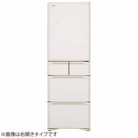 日立 HITACHI 冷蔵庫 Sタイプ クリスタルホワイト R-S40NL-XW [5ドア /左開きタイプ /401L]《基本設置料金セット》