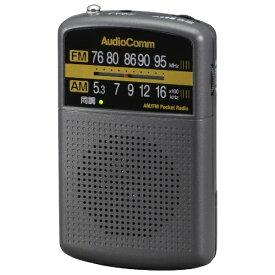 オーム電機 OHM ELECTRIC AM/FMポケットラジオ AudioComm グレー RAD-P135N-H [AM/FM /ワイドFM対応]