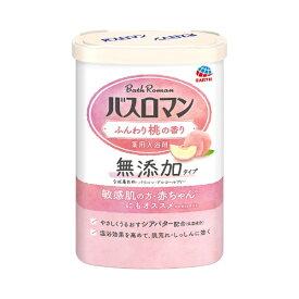 アース製薬 Earth バスロマン 無添加タイプ ふんわり桃の香り 600g