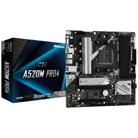 ASROCK アスロック マザーボード A520M Pro4 A520MPro4 [MicroATX /Socket AM4]
