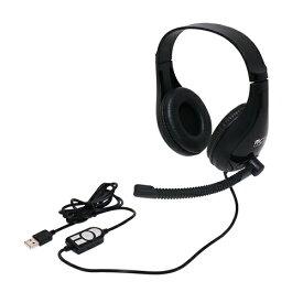 ミヨシ MIYOSHI ヘッドセット UHP-03/BK [USB /両耳 /ヘッドバンドタイプ]