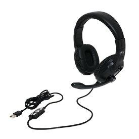 ミヨシ MIYOSHI ヘッドセット UHP-04/BK [USB /両耳 /ヘッドバンドタイプ]