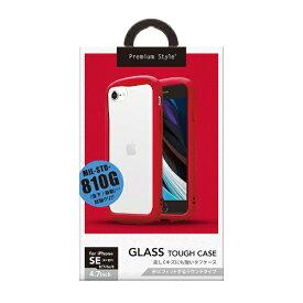 PGA iPhone SE/8/7/6s/6用 ガラスタフケース ラウンドタイプ レッド PG-20MGT21RD レッド
