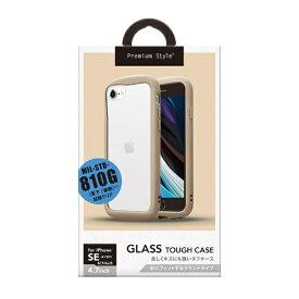 PGA iPhone SE/8/7/6s/6用 ガラスタフケース ラウンドタイプ ベージュ PG-20MGT22BE ベージュ