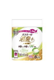 大王製紙 Daio Paper elleair(エリエール)消臭+ トイレットティシュー ほのかに香るナチュラルクリアの香り コンパクト [8ロール/ダブル/37.5m]