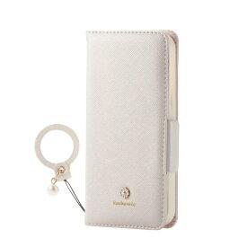 エレコム ELECOM iPhone 12 mini 5.4インチ対応 レザーケース 手帳型 Enchante 磁石付き リング付き ホワイト