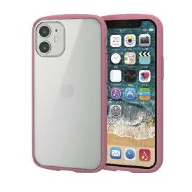 エレコム ELECOM iPhone 12 mini 5.4インチ対応 ハイブリッドケース TOUGH SLIM LITE フレームカラー ピンク