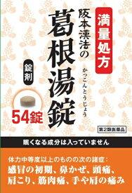 【第2類医薬品】阪本漢法の葛根湯錠 54錠阪本漢法製薬
