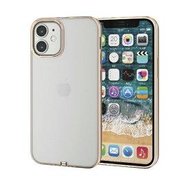 エレコム ELECOM iPhone 12 mini 5.4インチ対応 ソフトケース サイドメッキ 極み ゴールド