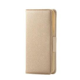 エレコム ELECOM iPhone 12/12 Pro 6.1インチ対応 レザーケース 手帳型 Enchante 磁石付き ゴールド