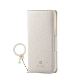 エレコム ELECOM iPhone 12/12 Pro 6.1インチ対応 レザーケース 手帳型 Enchante 磁石付き リング付き ホワイト