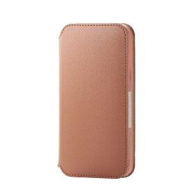 エレコム ELECOM iPhone 12/12 Pro 6.1インチ対応 レザーケース 手帳型 NEUTZ 磁石付き ブラウン