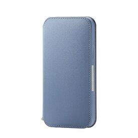 エレコム ELECOM iPhone 12/12 Pro 6.1インチ対応 レザーケース 手帳型 NEUTZ 磁石付き ブルー