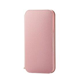 エレコム ELECOM iPhone 12/12 Pro 6.1インチ対応 レザーケース 手帳型 NEUTZ 磁石付き ピンク