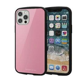 エレコム ELECOM iPhone 12/12 Pro 6.1インチ対応 ハイブリッドケース TOUGH SLIM LITE ピンク