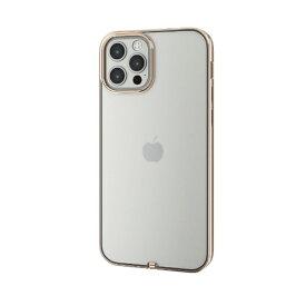 エレコム ELECOM iPhone 12/12 Pro 6.1インチ対応 ソフトケース サイドメッキ 極み ゴールド