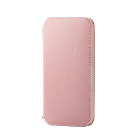 エレコム ELECOM iPhone 12 Pro Max 6.7インチ対応レザーケース 手帳型 NEUTZ 磁石付き ピンク