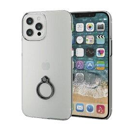 エレコム ELECOM iPhone 12 Pro Max 6.7インチ対応ハードケース リング付き ブラック