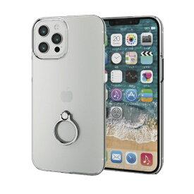 エレコム ELECOM iPhone 12 Pro Max 6.7インチ対応ハードケース リング付き シルバー
