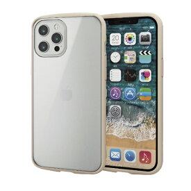 エレコム ELECOM iPhone 12 Pro Max 6.7インチ対応ハイブリッドケース TOUGH SLIM LITE フレームカラー アイボリー