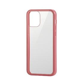 エレコム ELECOM iPhone 12/12 Pro 6.1インチ対応 ハイブリッドケース 360度保護 ガラス ピンク