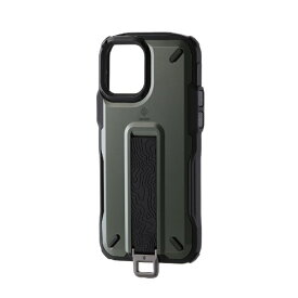 エレコム iPhone 12/12 Pro 6.1インチ対応 ハイブリッドケース NESTOUT Trekking オリーブ