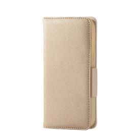 エレコム ELECOM iPhone 12 mini 5.4インチ対応 レザーケース 手帳型 Enchante 磁石付き ゴールド